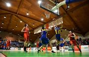 26 January 2019; Barry Drumm of UCD Marian collects a rebound during the Hula Hoops Men's Pat Duffy National Cup Final match between Pyrobel Killester and UCD Marian at the National Basketball Arena in Tallaght, Dublin. Photo by Brendan Moran/Sportsfile