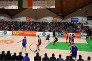 26 January 2019; A general view of the action during the Hula Hoops Men's Pat Duffy National Cup Final match between Pyrobel Killester and UCD Marian at the National Basketball Arena in Tallaght, Dublin. Photo by Brendan Moran/Sportsfile