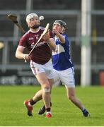 27 January 2019; Joe Canning of Galway in action against John Lennon of Laois during the Allianz Hurling League Division 1B Round 1 match between Galway and Laois at Pearse Stadium in Galway. Photo by Ray Ryan/Sportsfile