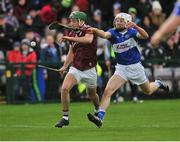 27 January 2019; Brian Concannon of Galway in action against Joe Phelan of Laois during the Allianz Hurling League Division 1B Round 1 match between Galway and Laois at Pearse Stadium in Galway. Photo by Ray Ryan/Sportsfile