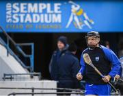 27 January 2019; Kevin Moran of Waterford runs out for the warm-up prior to the Allianz Hurling League Division 1B Round 1 match between Waterford and Offaly at Semple Stadium in Thurles, Co. Tipperary. Photo by Harry Murphy/Sportsfile