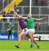 27 January 2019; Jack O'Connor of Wexford in action against Dan Morrissey of Limerick during the Allianz Hurling League Division 1A Round 1 match between Wexford and Limerick at Innovate Wexford Park in Wexford. Photo by Matt Browne/Sportsfile