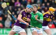 27 January 2019; Conor Firman of Wexford in action against Peter Casey of Limerick during the Allianz Hurling League Division 1A Round 1 match between Wexford and Limerick at Innovate Wexford Park in Wexford. Photo by Matt Browne/Sportsfile