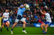 27 January 2019; Michael Darragh Macauley of Dublin in action against Ryan Wylie of Monaghan during the Allianz Football League Division 1 Round 1 match between Monaghan and Dublin at St Tiernach's Park in Clones, Co. Monaghan. Photo by Ramsey Cardy/Sportsfile
