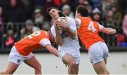 27 January 2019; Eoin Doyle of Kildare in action against Ryan McShane, left, and James Morgan of Armagh during the Allianz Football League Division 2 Round 1 match between Kildare and Armagh at St Conleth's Park in Newbridge, Kildare. Photo by Piaras Ó Mídheach/Sportsfile