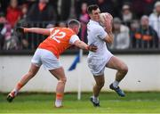 27 January 2019; Eoin Doyle of Kildare in action against Ryan McShane of Armagh during the Allianz Football League Division 2 Round 1 match between Kildare and Armagh at St Conleth's Park in Newbridge, Kildare. Photo by Piaras Ó Mídheach/Sportsfile