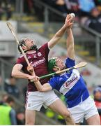 27 January 2019; Padraic Mannion of Galway in action against Paddy Purcell of Laois during the Allianz Hurling League Division 1B Round 1 match between Galway and Laois at Pearse Stadium in Galway. Photo by Ray Ryan/Sportsfile