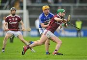 27 January 2019; Jack Grealish of Galway in action against Mark Kavanagh of Laois during the Allianz Hurling League Division 1B Round 1 match between Galway and Laois at Pearse Stadium in Galway. Photo by Ray Ryan/Sportsfile