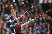 27 January 2019; Ronan Burke of Galway in action against Aaron Dunphy of Laois during the Allianz Hurling League Division 1B Round 1 match between Galway and Laois at Pearse Stadium in Galway. Photo by Ray Ryan/Sportsfile