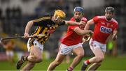 27 January 2019; Billy Ryan of Kilkenny in action against Conor O'Sullivan and Damien Cahalane of Cork, right, during the Allianz Hurling League Division 1A Round 1 match between Kilkenny and Cork at Nowlan Park in Kilkenny. Photo by Ray McManus/Sportsfile