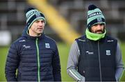 27 January 2019; Fermanagh manager Rory Gallagher, left, and Fermanagh assistant manager Ryan McMenamin during the Allianz Football League Division 2 Round 1 match between Fermanagh and Cork at Brewster Park in Enniskillen, Fermanagh. Photo by Oliver McVeigh/Sportsfile