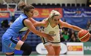 27 January 2019; Nichola Rafferty of Ulster University Elks in action against Claire Rockall of Maree during the Hula Hoops Women's Division One National Cup Final match between Maree and Ulster University Elks at the National Basketball Arena in Tallaght, Dublin. Photo by Brendan Moran/Sportsfile