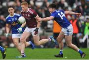 27 January 2019; Kieran Duggan of Galway in action against Thomas Galligan of Cavan during the Allianz Football League Division 1 Round 1 match between Galway and Cavan at Pearse Stadium in Galway. Photo by Ray Ryan/Sportsfile