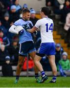 27 January 2019; Jack McCarron of Monaghan tussles with Jonny Cooper of Dublin during the Allianz Football League Division 1 Round 1 match between Monaghan and Dublin at St Tiernach's Park in Clones, Co. Monaghan. Photo by Ramsey Cardy/Sportsfile