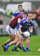 27 January 2019; Martin Reilly of Cavan in action against Shane Walsh of Galway during the Allianz Football League Division 1 Round 1 match between Galway and Cavan at Pearse Stadium in Galway. Photo by Ray Ryan/Sportsfile