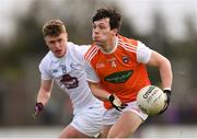 27 January 2019; James Morgan of Armagh in action against Jimmy Hyland of Kildare during the Allianz Football League Division 2 Round 1 match between Kildare and Armagh at St Conleth's Park in Newbridge, Kildare. Photo by Piaras Ó Mídheach/Sportsfile
