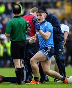 27 January 2019; John Small of Dublin appeals to referee David Coldrick during the Allianz Football League Division 1 Round 1 match between Monaghan and Dublin at St Tiernach's Park in Clones, Co. Monaghan. Photo by Ramsey Cardy/Sportsfile
