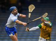 27 January 2019; Michael Walsh of Waterford in action against Eoghan Cahill of Offaly during the Allianz Hurling League Division 1B Round 1 match between Waterford and Offaly at Semple Stadium in Thurles, Co. Tipperary. Photo by Harry Murphy/Sportsfile