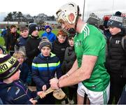 27 January 2019; Cian Lynch of Limerick with supporters after the Allianz Hurling League Division 1A Round 1 match between Wexford and Limerick at Innovate Wexford Park in Wexford. Photo by Matt Browne/Sportsfile