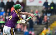 27 January 2019; Conor McDonald of Wexford has a shot at goal  during the Allianz Hurling League Division 1A Round 1 match between Wexford and Limerick at Innovate Wexford Park in Wexford. Photo by Matt Browne/Sportsfile