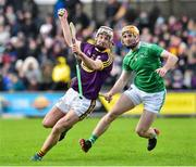 27 January 2019; Cathal Dunbar of Wexford in action against Richie English of Limerick during the Allianz Hurling League Division 1A Round 1 match between Wexford and Limerick at Innovate Wexford Park in Wexford. Photo by Matt Browne/Sportsfile