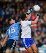 27 January 2019; Ryan Wylie of Monaghan in action against Con O'Callaghan of Dublin during the Allianz Football League Division 1 Round 1 match between Monaghan and Dublin at St Tiernach's Park in Clones, Co. Monaghan. Photo by Ramsey Cardy/Sportsfile