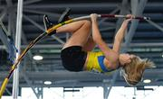 27 January 2019; Clodagh Walsh of Abbey Striders AC, Co.Cork, competing in the Junior Women Pole Vault event during the Irish Life Health Junior and U23 Indoors at AIT International Arena in Athlone, Co. Westmeath. Photo by Sam Barnes/Sportsfile