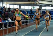 27 January 2019; Sophie Becker of St. Joseph's AC, Co. Kilkenny, on her way to winning the U23 Women 200m event during the Irish Life Health Junior and U23 Indoors at AIT International Arena in Athlone, Co. Westmeath. Photo by Sam Barnes/Sportsfile
