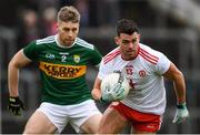 27 January 2019; Darren McCurry of Tyrone in action against Peter Crowley of Kerry during the Allianz Football League Division 1 Round 1 match between Kerry and Tyrone at Fitzgerald Stadium in Killarney, Kerry. Photo by Stephen McCarthy/Sportsfile