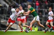 27 January 2019; Sean O'Shea of Kerry and Matthew Donnelly of Tyrone during the Allianz Football League Division 1 Round 1 match between Kerry and Tyrone at Fitzgerald Stadium in Killarney, Kerry. Photo by Stephen McCarthy/Sportsfile