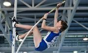 27 January 2019; Eabha McNally of Lusk AC, Co. Dublin, competing in the Junior Women Pole Vault event during the Irish Life Health Junior and U23 Indoors at AIT International Arena in Athlone, Co. Westmeath. Photo by Sam Barnes/Sportsfile