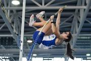 27 January 2019; Grace Codd of Lusk AC, Co. Dublin, competing in the Junior Women Pole Vault event during the Irish Life Health Junior and U23 Indoors at AIT International Arena in Athlone, Co. Westmeath. Photo by Sam Barnes/Sportsfile