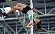 27 January 2019; Aislinn Mumford of Raheny Shamrock AC, Co. Dublin, competing in the U23 Women Pole Vault event during the Irish Life Health Junior and U23 Indoors at AIT International Arena in Athlone, Co. Westmeath. Photo by Sam Barnes/Sportsfile