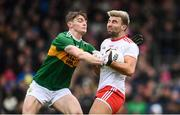 27 January 2019; Tiernan McCann of Tyrone in action against Diarmuid O'Connor of Kerry during the Allianz Football League Division 1 Round 1 match between Kerry and Tyrone at Fitzgerald Stadium in Killarney, Kerry. Photo by Stephen McCarthy/Sportsfile
