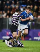 27 January 2019; Michael McEvoy of St Mary's College is tackled by George Morgan of Terenure College during the Bank of Ireland Leinster Schools Senior Cup Round 1 match between St Mary's College and Terenure College at Energia Park in Dublin. Photo by Daire Brennan/Sportsfile