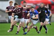 27 January 2019; Jack Brady of Cavan in action against Eoghan Kerin of Galway during the Allianz Football League Division 1 Round 1 match between Galway and Cavan at Pearse Stadium in Galway. Photo by Ray Ryan/Sportsfile