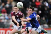 27 January 2019; Johnny Heaney of Galway in action against Dara McVeety of Cavan during the Allianz Football League Division 1 Round 1 match between Galway and Cavan at Pearse Stadium in Galway. Photo by Ray Ryan/Sportsfile