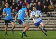 27 January 2019; Conor McManus of Monaghan in action against Brian Howard  of Dublin during the Allianz Football League Division 1 Round 1 match between Monaghan and Dublin at St Tiernach's Park in Clones, Monaghan. Photo by Philip Fitzpatrick/Sportsfile