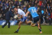 27 January 2019; Ryan Wylie of Monaghan in action against Dean Rock of Dublin during the Allianz Football League Division 1 Round 1 match between Monaghan and Dublin at St Tiernach's Park in Clones, Monaghan. Photo by Philip Fitzpatrick/Sportsfile