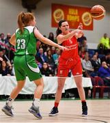27 January 2019; Tricia Byrne of Singleton SuperValu Brunell in action against Sorcha Tiernan of Courtyard Liffey Celtics during the Hula Hoops Women's Division One National Cup Final match between Courtyard Liffey Celtics and Singleton SuperValu Brunell at the National Basketball Arena in Tallaght, Dublin. Photo by Brendan Moran/Sportsfile