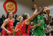 27 January 2019; Briana Green of Courtyard Liffey Celtics in action against Simone O'Shea of Singleton SuperValu Brunell during the Hula Hoops Women's Division One National Cup Final match between Courtyard Liffey Celtics and Singleton SuperValu Brunell at the National Basketball Arena in Tallaght, Dublin. Photo by Eóin Noonan/Sportsfile