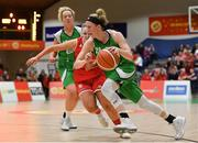 27 January 2019; Allie LeClaire of Courtyard Liffey Celtics in action against Simone O'Shea of Singleton SuperValu Brunell during the Hula Hoops Women's Division One National Cup Final match between Courtyard Liffey Celtics and Singleton SuperValu Brunell at the National Basketball Arena in Tallaght, Dublin. Photo by Eóin Noonan/Sportsfile