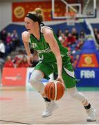 27 January 2019; Allie LeClaire of Courtyard Liffey Celtics during the Hula Hoops Women's Division One National Cup Final match between Courtyard Liffey Celtics and Singleton SuperValu Brunell at the National Basketball Arena in Tallaght, Dublin. Photo by Eóin Noonan/Sportsfile