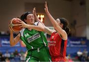 27 January 2019; Áine O'Connor of Courtyard Liffey Celtics in action against Madelyn Ganser of Singleton SuperValu Brunell during the Hula Hoops Women's Division One National Cup Final match between Courtyard Liffey Celtics and Singleton SuperValu Brunell at the National Basketball Arena in Tallaght, Dublin. Photo by Eóin Noonan/Sportsfile