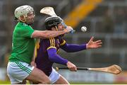 27 January 2019; Liam Og McGovern of Wexford in action against Tom Condon of Limerick during the Allianz Hurling League Division 1A Round 1 match between Wexford and Limerick at Innovate Wexford Park in Wexford. Photo by Matt Browne/Sportsfile