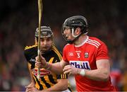27 January 2019; Damien Cahalane of Cork in action against Kevin Kelly of Kilkenny during the Allianz Hurling League Division 1A Round 1 match between Kilkenny and Cork at Nowlan Park in Kilkenny. Photo by Ray McManus/Sportsfile