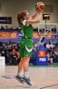 27 January 2019; Sorcha Tiernan of Courtyard Liffey Celtics scores a three pointer during the Hula Hoops Women's Paudie O'Connor National Cup Final match between Courtyard Liffey Celtics and Singleton SuperValu Brunell at the National Basketball Arena in Tallaght, Dublin. Photo by Brendan Moran/Sportsfile