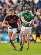 27 January 2019; Declan Hannon of Limerick in action against Jack O'Connor of Wexford during the Allianz Hurling League Division 1A Round 1 match between Wexford and Limerick at Innovate Wexford Park in Wexford. Photo by Matt Browne/Sportsfile