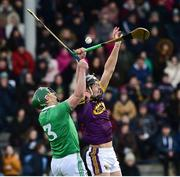27 January 2019; Jack O'Connor of Wexford in action against Sean Finn of Limerick during the Allianz Hurling League Division 1A Round 1 match between Wexford and Limerick at Innovate Wexford Park in Wexford. Photo by Matt Browne/Sportsfile