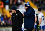 27 January 2019; Monaghan manager Malachy O'Rourke, right, and selector Leo McBride ahead of the Allianz Football League Division 1 Round 1 match between Monaghan and Dublin at St Tiernach's Park in Clones, Co. Monaghan. Photo by Ramsey Cardy/Sportsfile